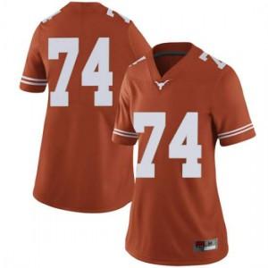 Women Texas Longhorns Rafiti Ghirmai #74 Limited Orange Football Jersey 940052-453