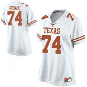 Women Texas Longhorns Rafiti Ghirmai #74 Replica White Football Jersey 887371-645
