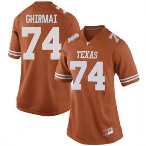 Women Texas Longhorns Rafiti Ghirmai #74 Replica Orange Football Jersey 875968-760