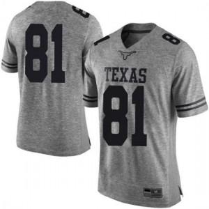 Men Texas Longhorns Reese Leitao #81 Limited Gray Football Jersey 654984-476