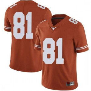 Men Texas Longhorns Reese Leitao #81 Limited Orange Football Jersey 963331-836