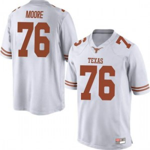 Men Texas Longhorns Reese Moore #76 Replica White Football Jersey 124706-266