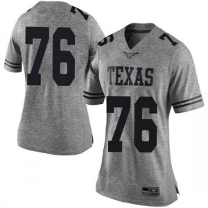 Women Texas Longhorns Reese Moore #76 Limited Gray Football Jersey 944338-664