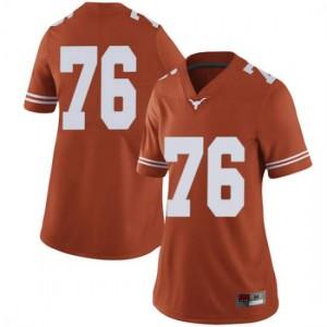 Women Texas Longhorns Reese Moore #76 Limited Orange Football Jersey 290015-350