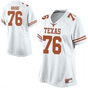 Women Texas Longhorns Reese Moore #76 Replica White Football Jersey 284567-594