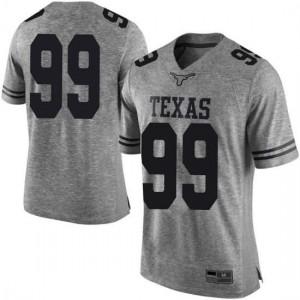 Men Texas Longhorns Rob Cummins #99 Limited Gray Football Jersey 872317-423