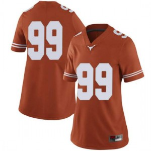 Women Texas Longhorns Rob Cummins #99 Limited Orange Football Jersey 703001-854
