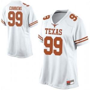 Women Texas Longhorns Rob Cummins #99 Replica White Football Jersey 631188-796