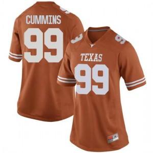 Women Texas Longhorns Rob Cummins #99 Replica Orange Football Jersey 560091-488