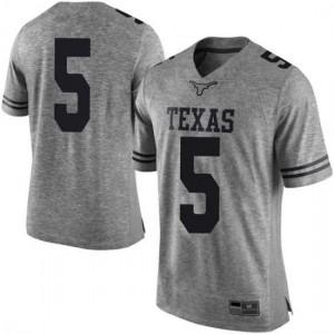 Men Texas Longhorns Royce Hamm Jr. #5 Limited Gray Football Jersey 128606-609