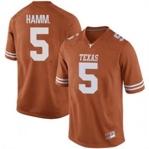 Men Texas Longhorns Royce Hamm Jr. #5 Replica Orange Football Jersey 714159-751