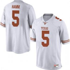 Men Texas Longhorns Royce Hamm Jr. #5 Replica White Football Jersey 272394-689