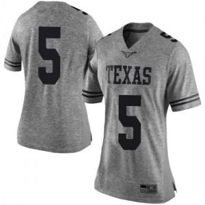 Women Texas Longhorns Royce Hamm Jr. #5 Limited Gray Football Jersey 443202-300