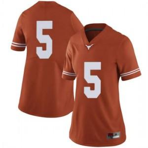 Women Texas Longhorns Royce Hamm Jr. #5 Limited Orange Football Jersey 883765-285