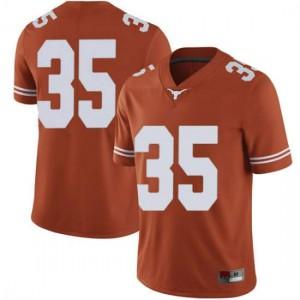 Men Texas Longhorns Russell Hine #35 Limited Orange Football Jersey 797928-364
