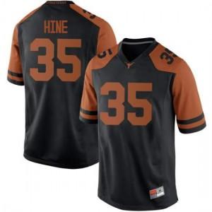 Men Texas Longhorns Russell Hine #35 Replica Black Football Jersey 583713-129