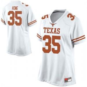 Women Texas Longhorns Russell Hine #35 Game White Football Jersey 820494-151