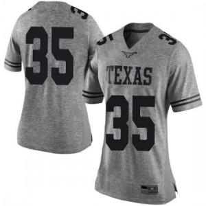 Women Texas Longhorns Russell Hine #35 Limited Gray Football Jersey 516589-567