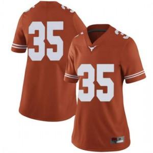 Women Texas Longhorns Russell Hine #35 Limited Orange Football Jersey 717138-284