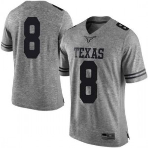 Men Texas Longhorns Ryan Bujcevski #8 Limited Gray Football Jersey 195731-916