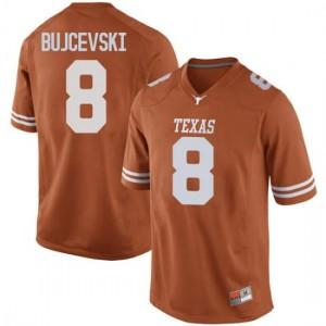 Men Texas Longhorns Ryan Bujcevski #8 Replica Orange Football Jersey 258939-444