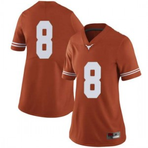 Women Texas Longhorns Ryan Bujcevski #8 Limited Orange Football Jersey 460737-756