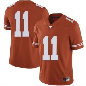 Men Texas Longhorns Sam Ehlinger #11 Limited Orange Football Jersey 286465-642