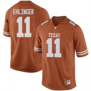 Men Texas Longhorns Sam Ehlinger #11 Replica Orange Football Jersey 752524-442