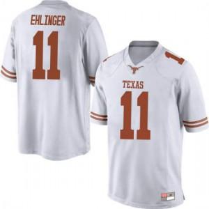 Men Texas Longhorns Sam Ehlinger #11 Replica White Football Jersey 675493-870