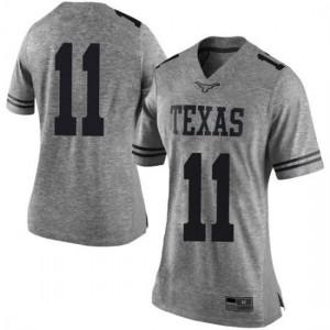 Women Texas Longhorns Sam Ehlinger #11 Limited Gray Football Jersey 829065-541