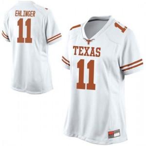 Women Texas Longhorns Sam Ehlinger #11 Replica White Football Jersey 204148-232