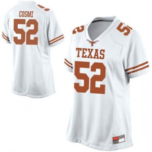 Women Texas Longhorns Samuel Cosmi #52 Game White Football Jersey 172697-953