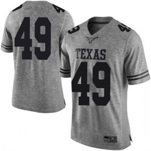 Men Texas Longhorns Ta'Quon Graham #49 Limited Gray Football Jersey 776787-292