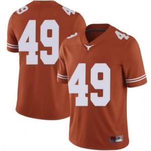 Men Texas Longhorns Ta'Quon Graham #49 Limited Orange Football Jersey 847205-963