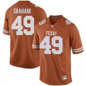 Men Texas Longhorns Ta'Quon Graham #49 Replica Orange Football Jersey 587346-207
