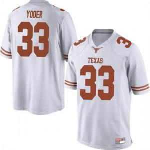 Men Texas Longhorns Tim Yoder #33 Game White Football Jersey 706569-825