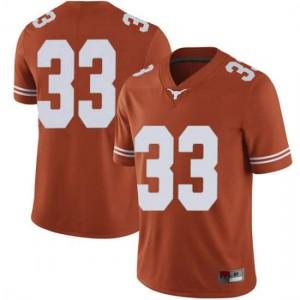 Men Texas Longhorns Tim Yoder #33 Limited Orange Football Jersey 930223-709