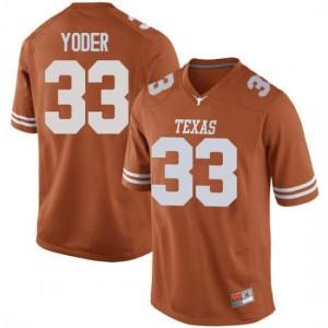Men Texas Longhorns Tim Yoder #33 Replica Orange Football Jersey 899014-799