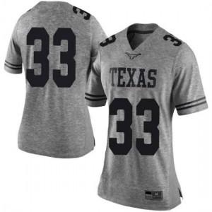 Women Texas Longhorns Tim Yoder #33 Limited Gray Football Jersey 319866-982