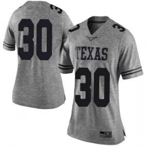Women Texas Longhorns Toneil Carter #30 Limited Gray Football Jersey 395326-244