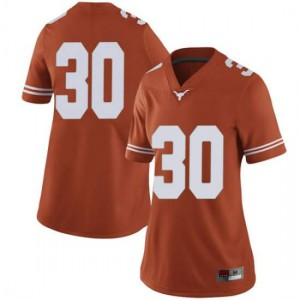 Women Texas Longhorns Toneil Carter #30 Limited Orange Football Jersey 883236-705