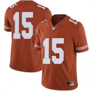 Men Texas Longhorns Travis West #15 Limited Orange Football Jersey 812117-350