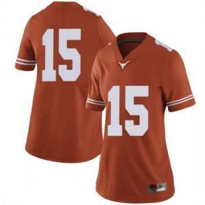 Women Texas Longhorns Travis West #15 Limited Orange Football Jersey 624327-680