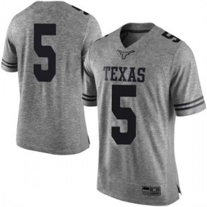 Men Texas Longhorns Tre Watson #5 Limited Gray Football Jersey 332320-115