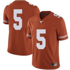 Men Texas Longhorns Tre Watson #5 Limited Orange Football Jersey 253717-490