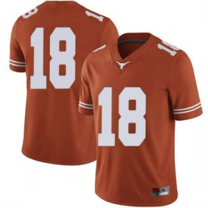 Men Texas Longhorns Tremayne Prudhomme #18 Limited Orange Football Jersey 431521-248