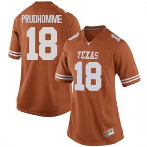 Women Texas Longhorns Tremayne Prudhomme #18 Game Orange Football Jersey 540071-198