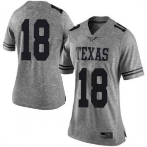 Women Texas Longhorns Tremayne Prudhomme #18 Limited Gray Football Jersey 338643-202