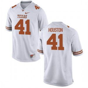 Men Texas Longhorns Tristian Houston #41 Limited White Football Jersey 747903-772