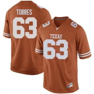 Men Texas Longhorns Troy Torres #63 Game Orange Football Jersey 900760-201